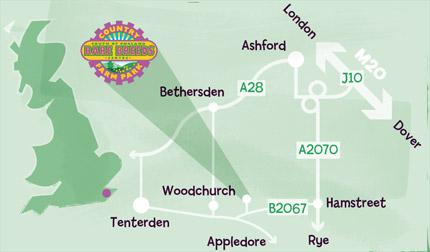 Directions To Rare Breeds Centre Ashford Kent Rare Breeds Centre - How to find us map